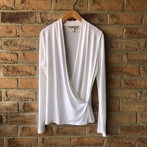 BANANA REPUBLIC | 🎄 white long sleeve draped top